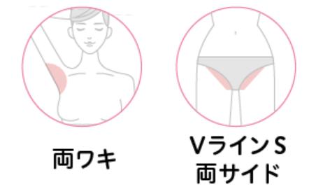 エピレ 両ワキ+Vライン