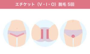 フェミークリニック エチケット(V・I・O) 脱毛範囲