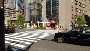 キレイモ有楽町への道順2 交差点